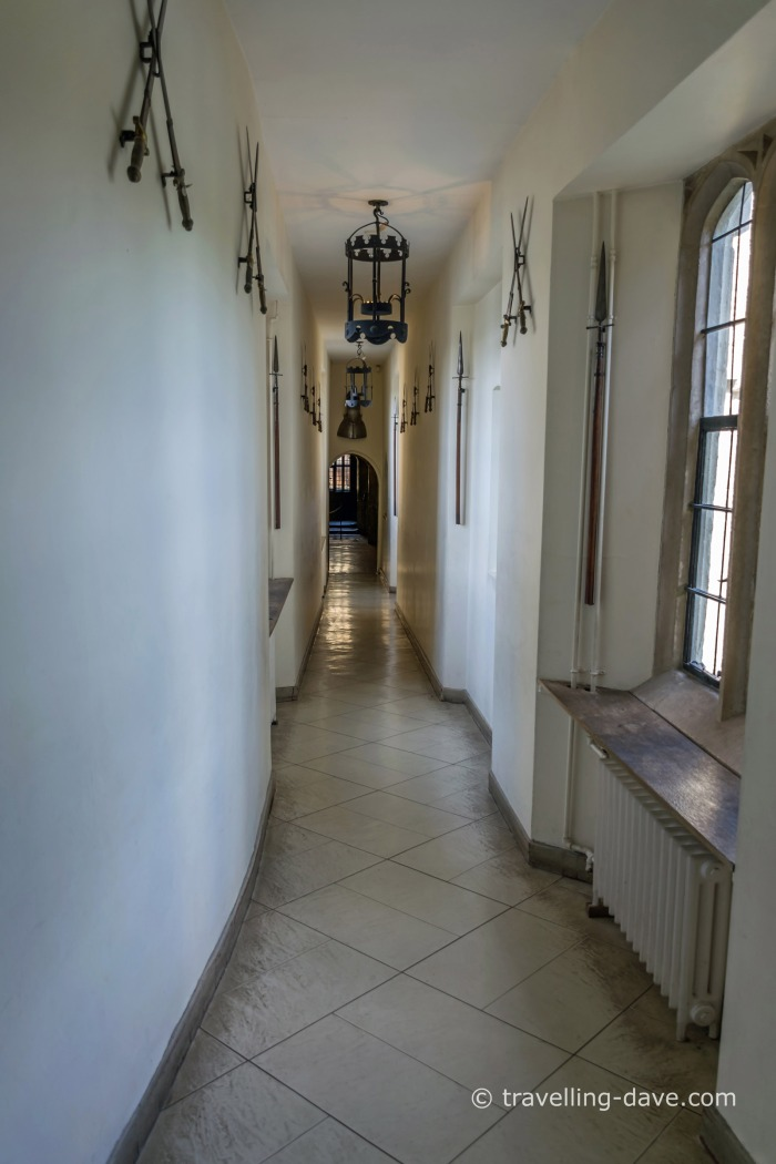 One of Leeds Castle's corridors