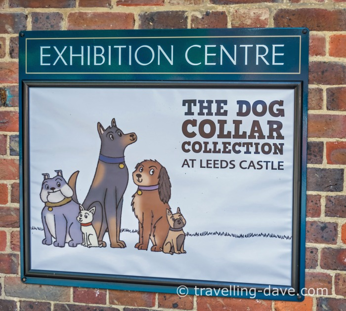 Leeds Castle's Dog Collection sign