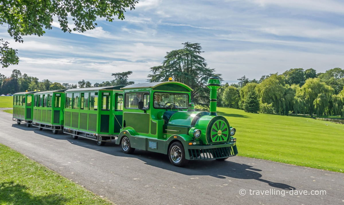 View of Leeds Castle land train