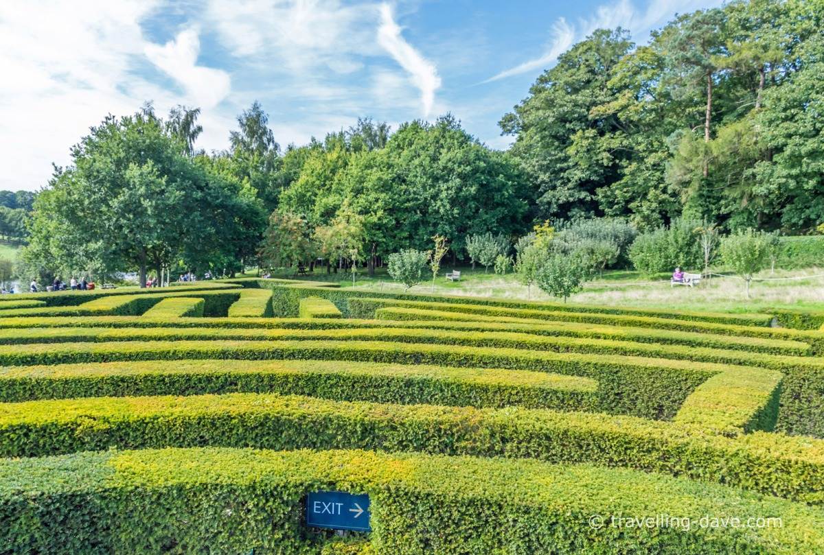 View of the maze at Leeds Castle