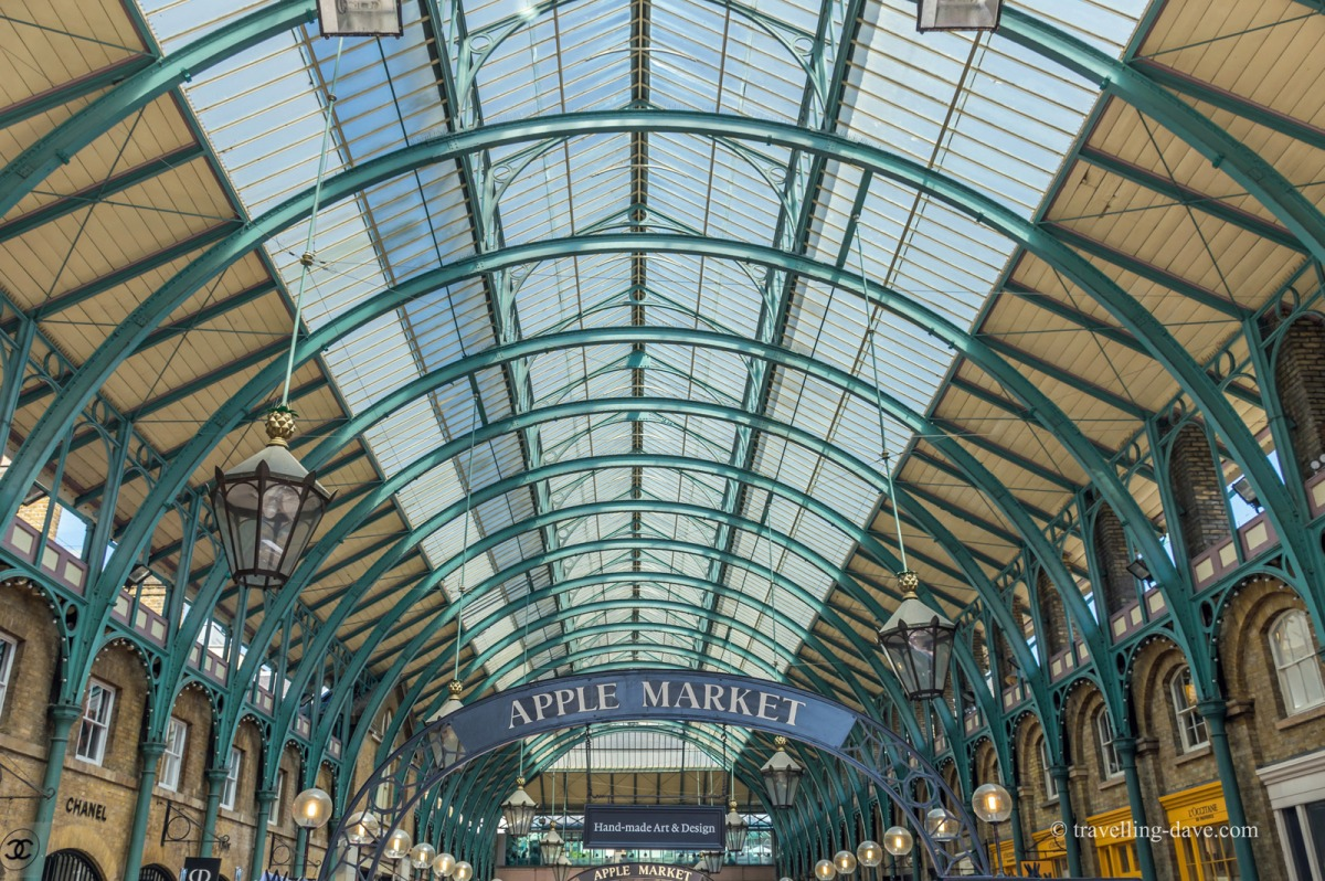 View of Covent Garden's Apple Market