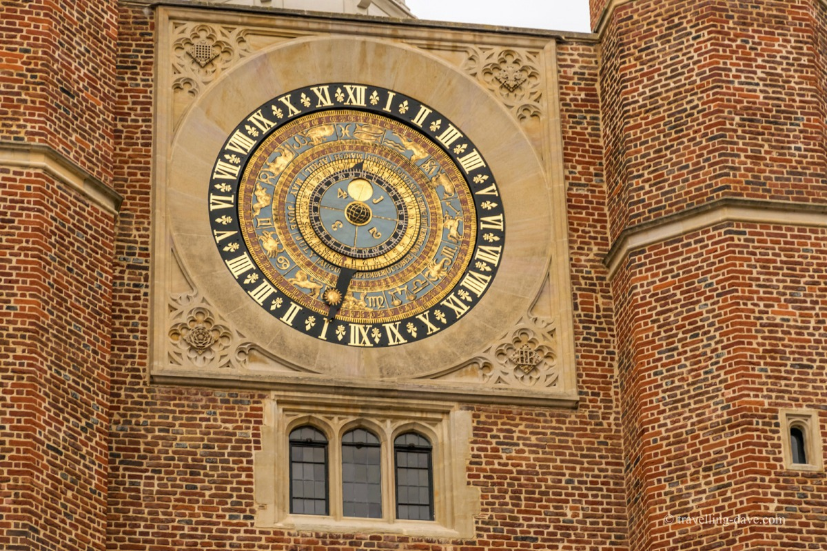 View of Hampton Court astronomical clock