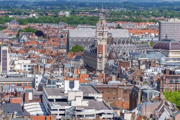 The view from Lille's Town Hall belfry