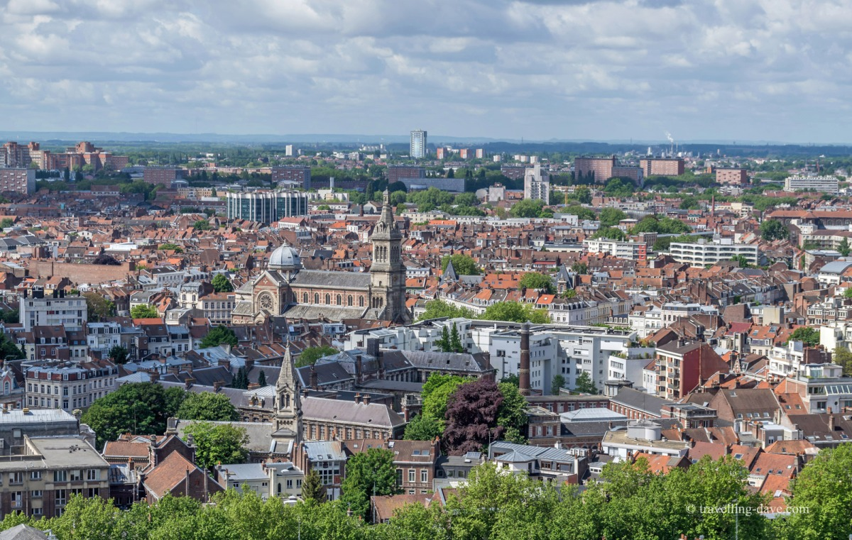 View of Lille's city rooftops