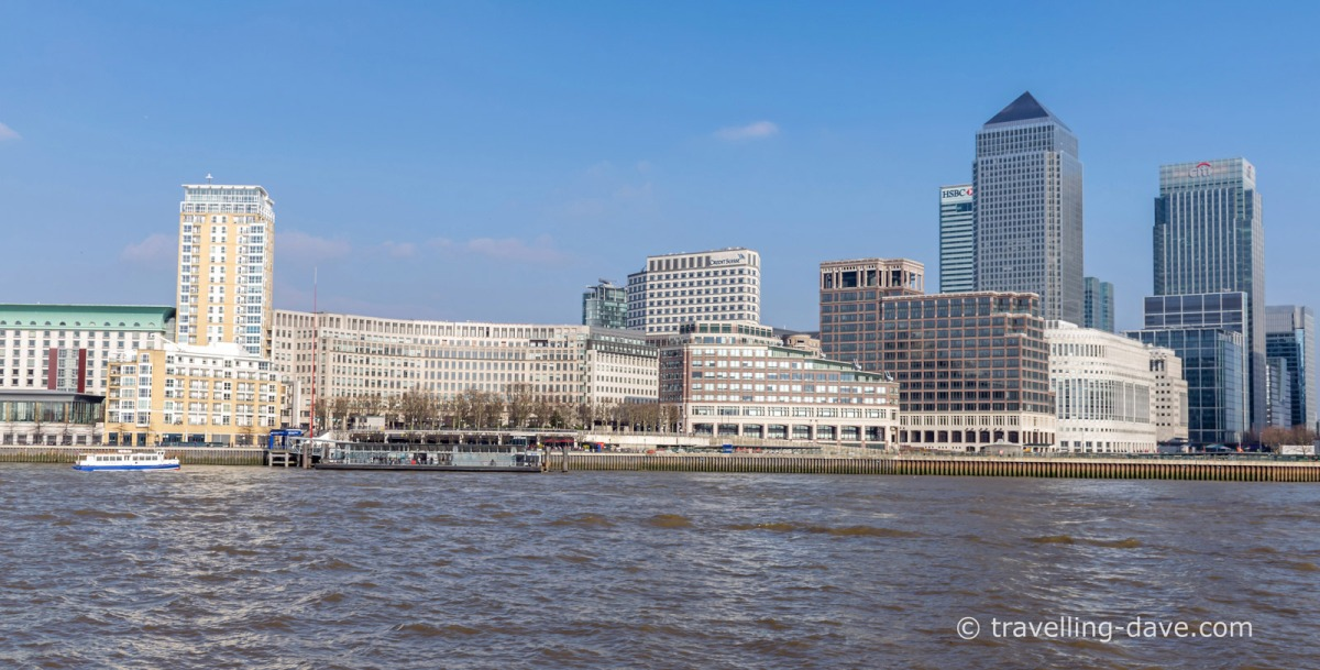 Panoramic view of Canary Wharf