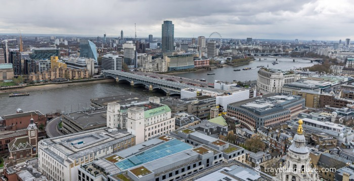 Panoramic view of London from St.Paul's Cathedral dome