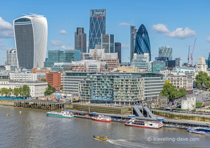 Panoramic view of the City of London
