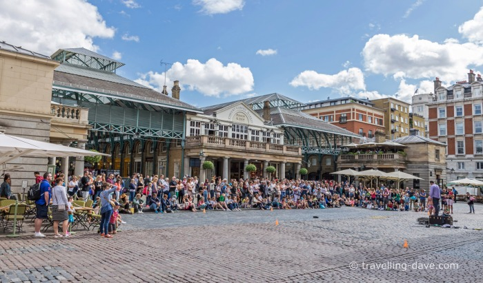 View of the Piazza at London's Covent Garden