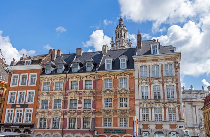 View of some of the Grand Place buildings