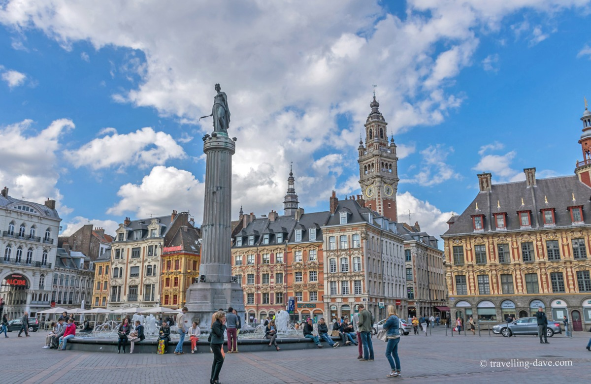 View of Lille's Grand Place