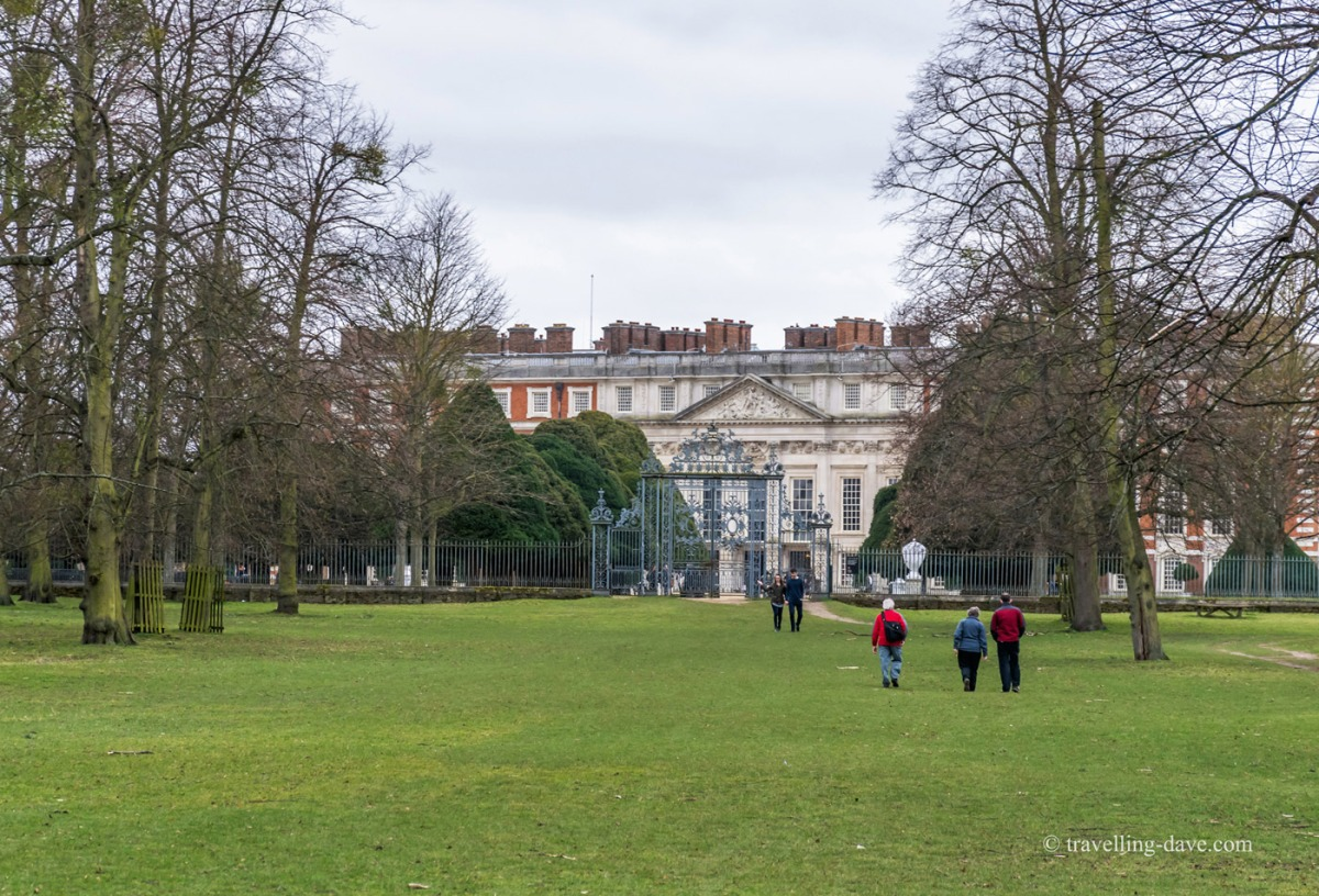 View of people walking in Home Park