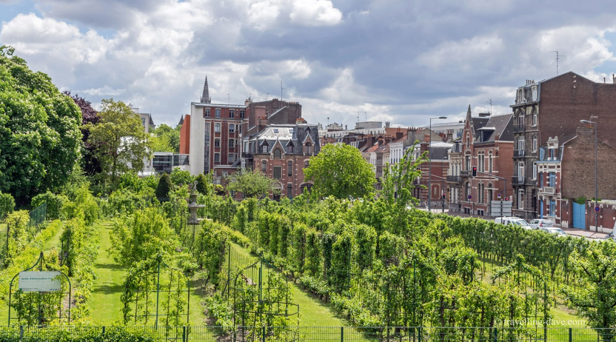View of Lille's Jardin d'Arboriculture Fruitiere