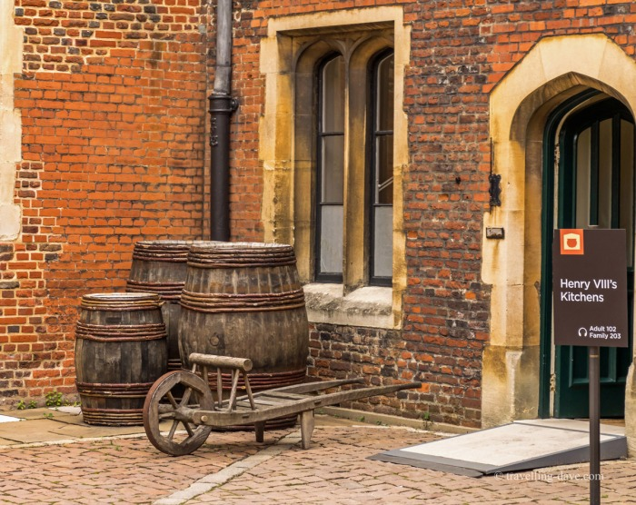 View of the entrance to the kitchens at Hampton Court