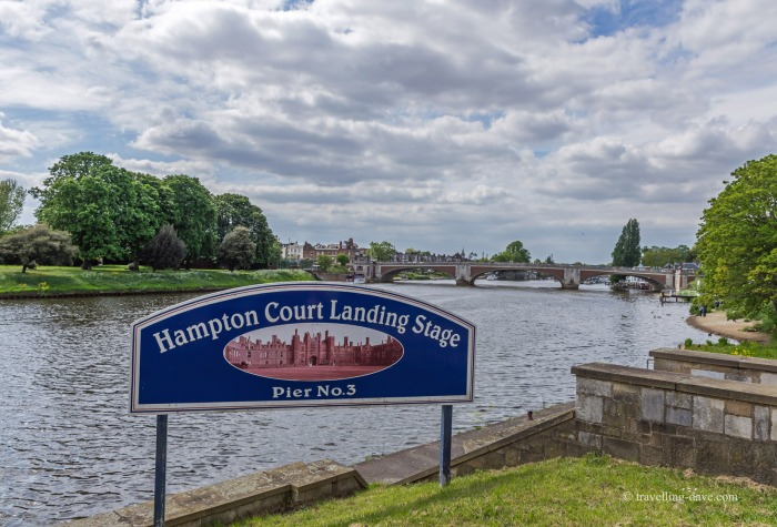 View of the Landing Stage at Hampton Court