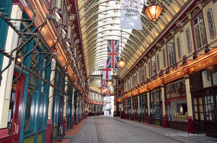 View of London's Leadenhall Market