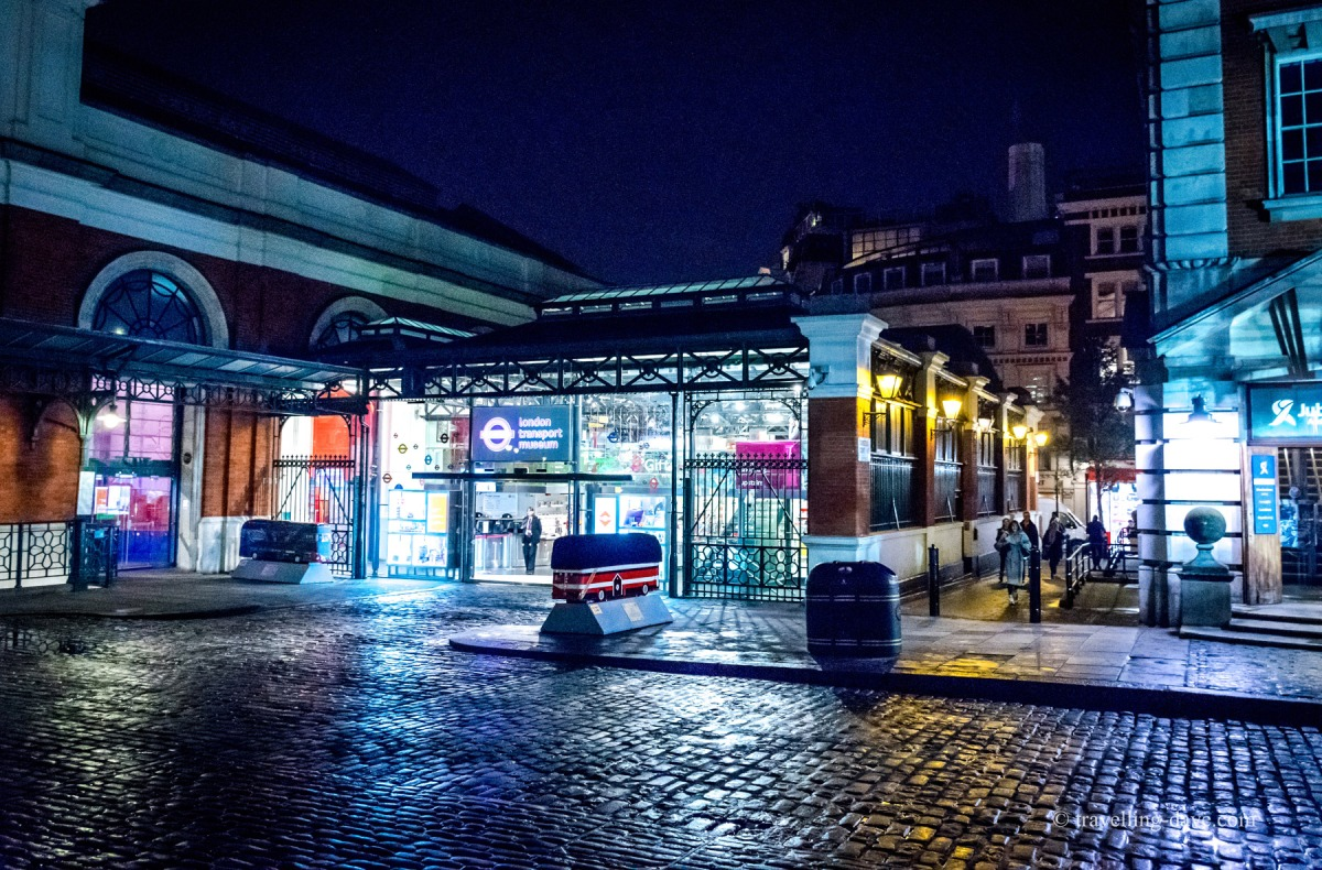 Evening view of London Transport Museum