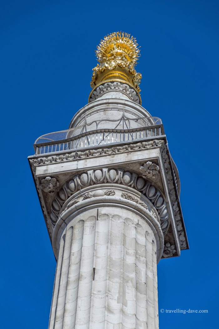 Looking up at the Monument