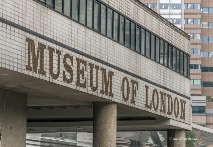 View of the entrance to the Museum of London