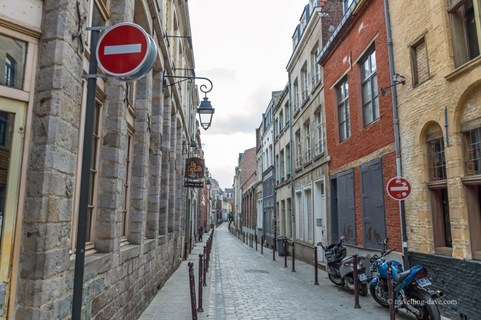 Looking down a street in Vieux Lille