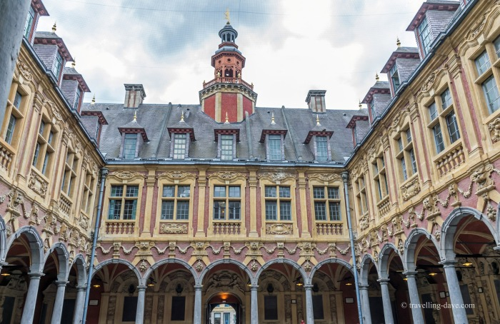 View of the arcade at the Old Stock Exchange in Lille