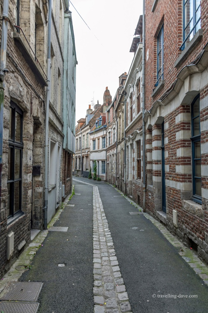 View of a narrow street in Vieux Lille