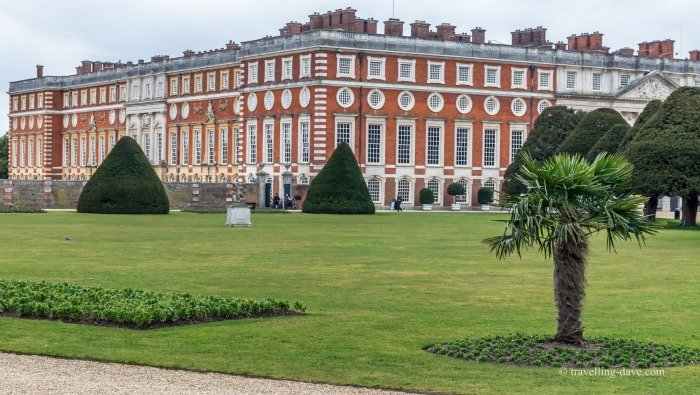 View of Hampton Court from the gardens