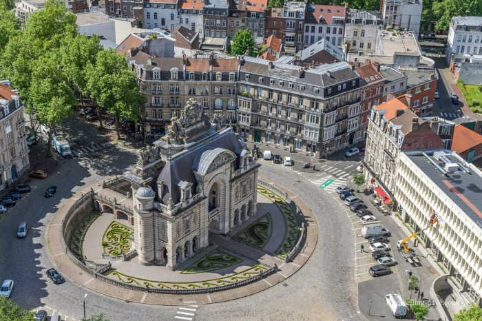 View of Lille's Porte de Paris