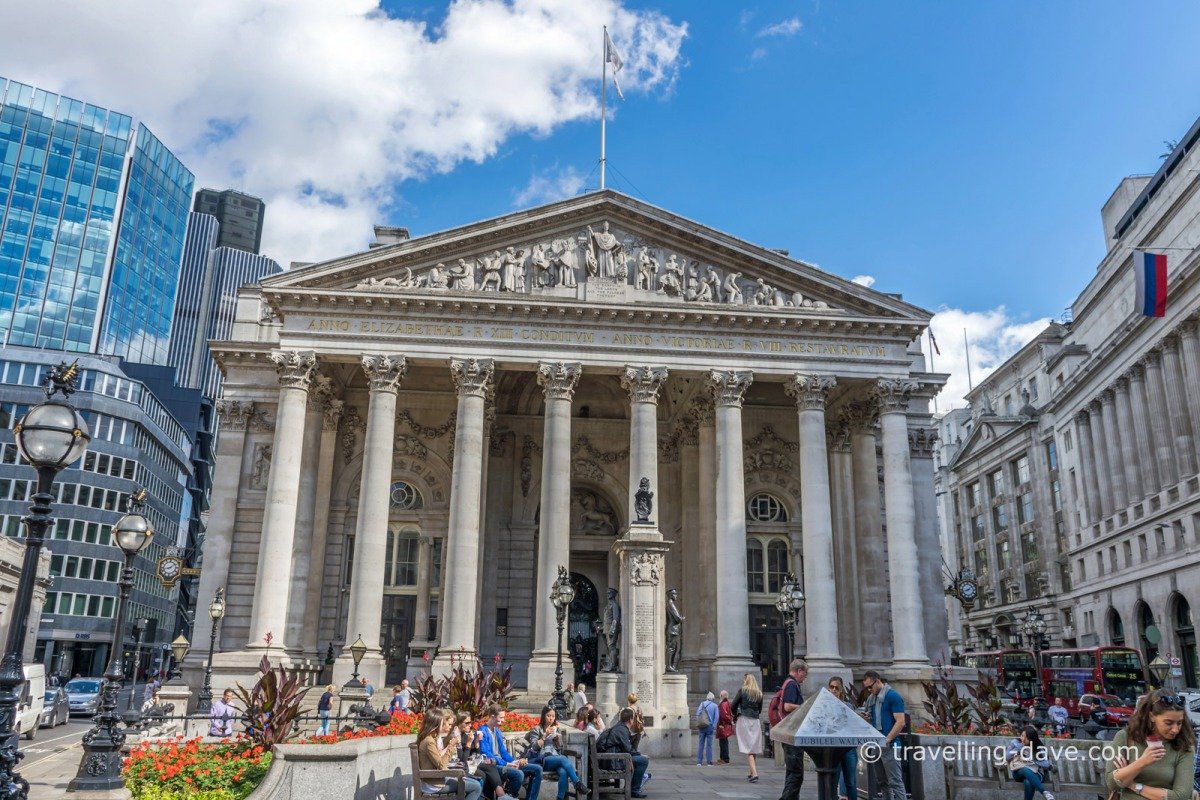 View of London's Royal Exchange building