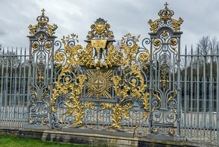 View of Hampton Court's Tijou screen
