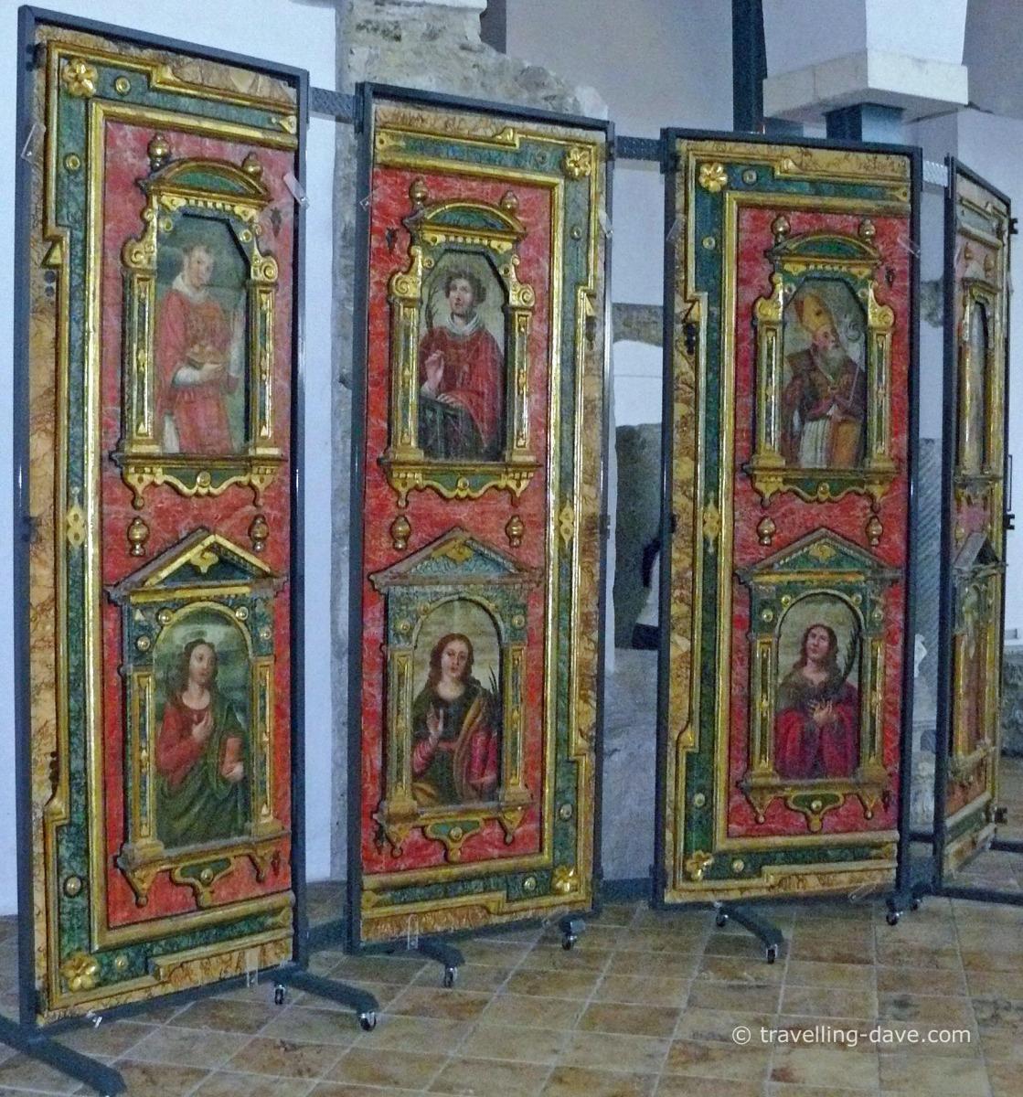 Artwork in Amalfi's Crucifixion Basilica