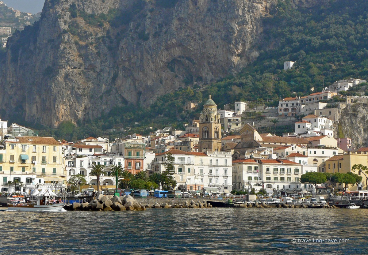 Sea view of the village of Amalfi