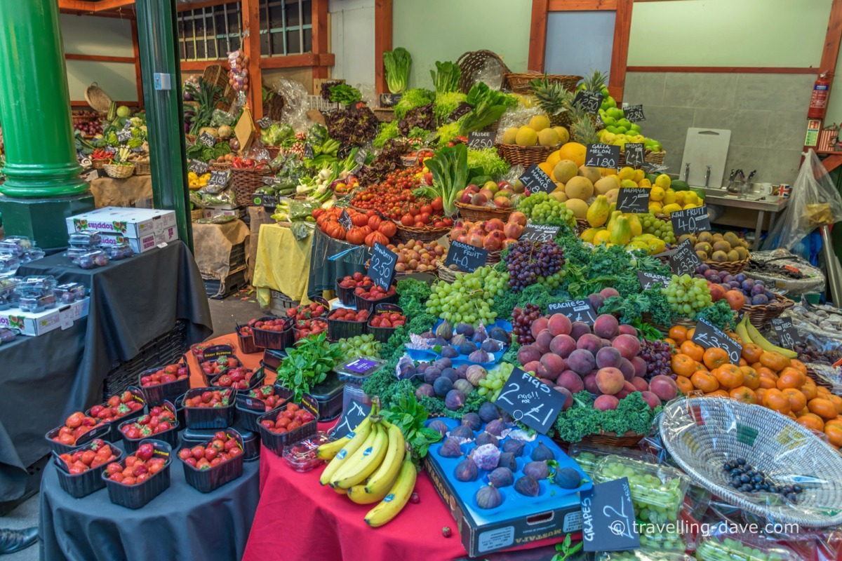 Fruit and veg stall st Borough Market