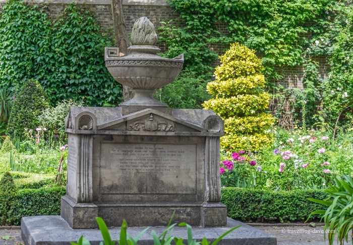 View of the final resting place of William Bligh