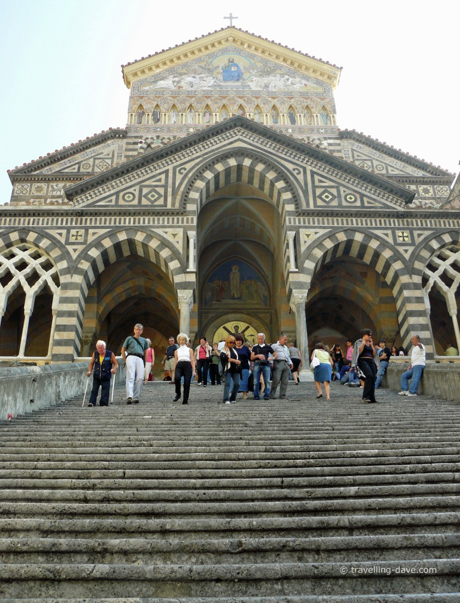 Steps to the entrance to Amalfi Cathedral