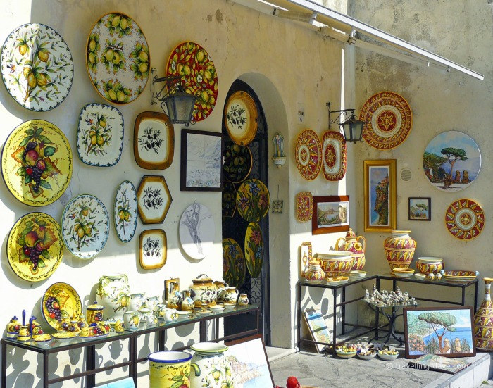 View of one of Ravello's ceramic shops
