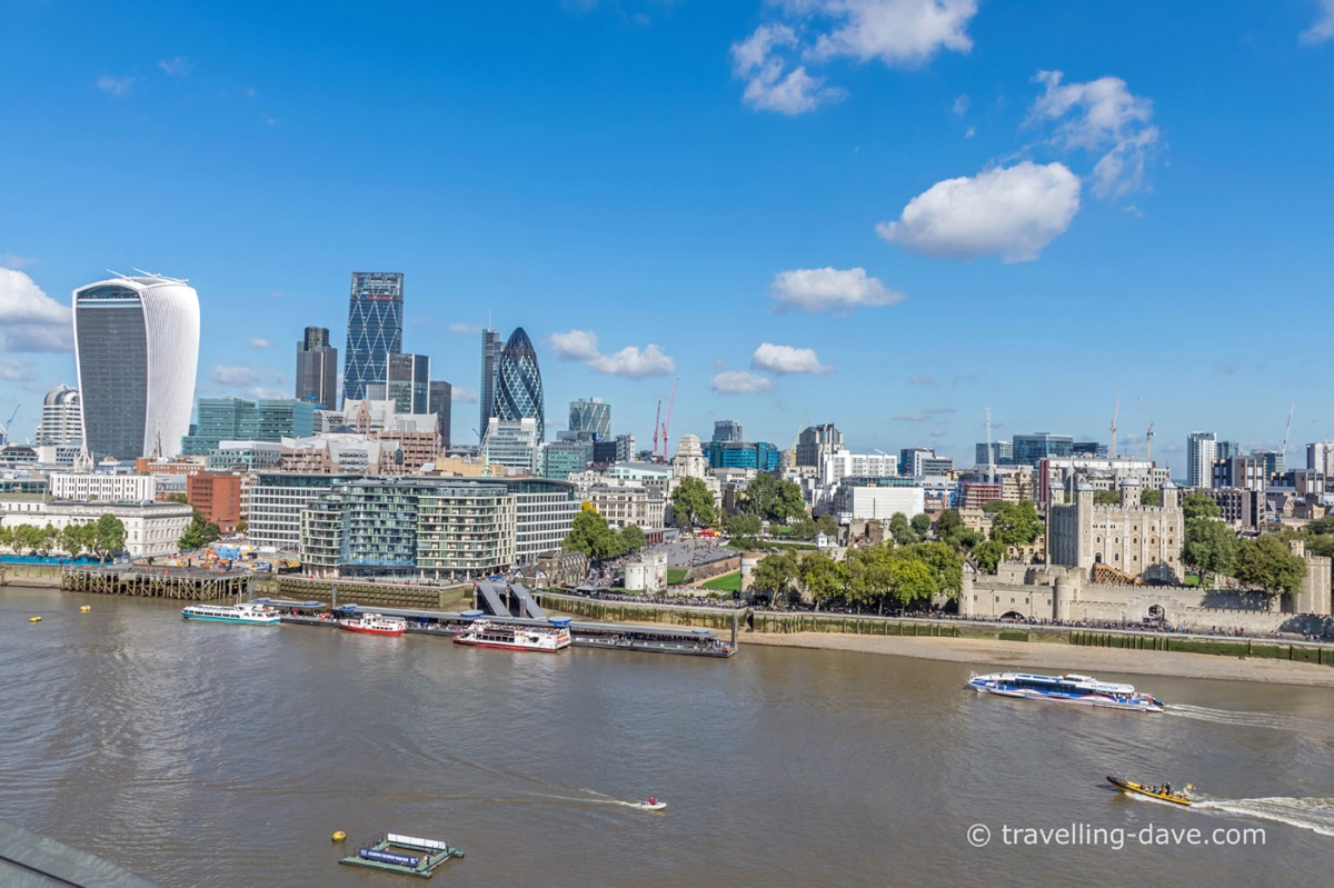 Looking out from the top of London City Hall