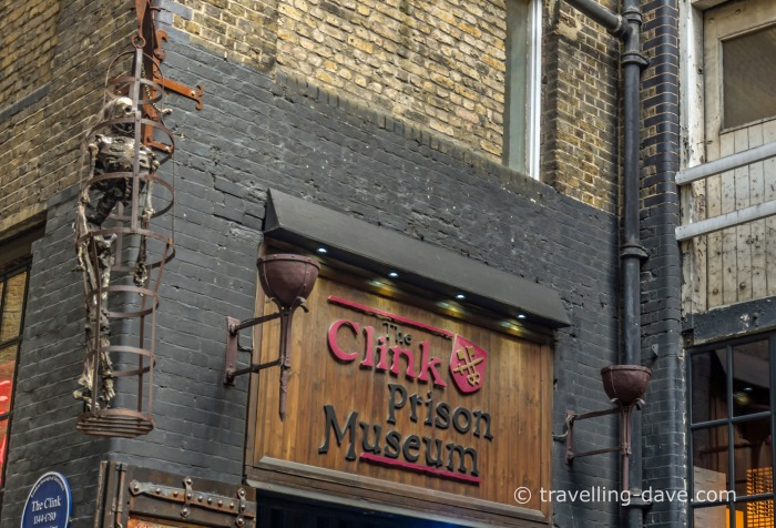 Entrance to London's Clink Prison Museum