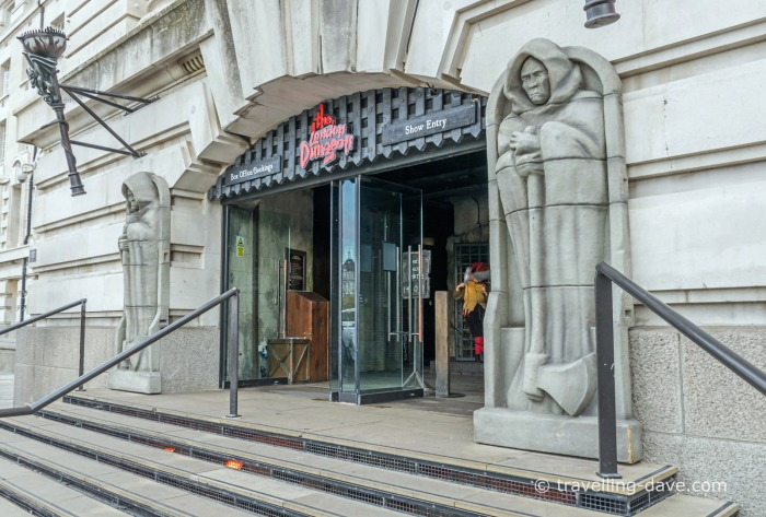 View of the entrance to the London Dungeon