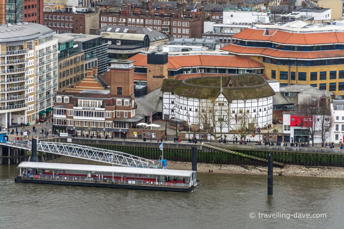 Aerial view of the Globe Theatre
