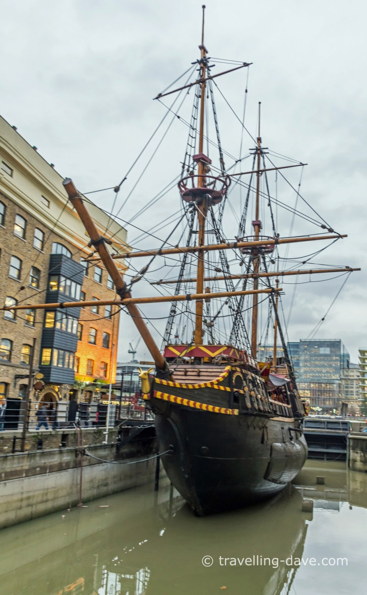 View of London's Golden Hinde