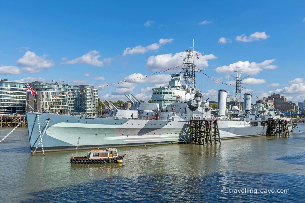 View of London's HMS Belfast
