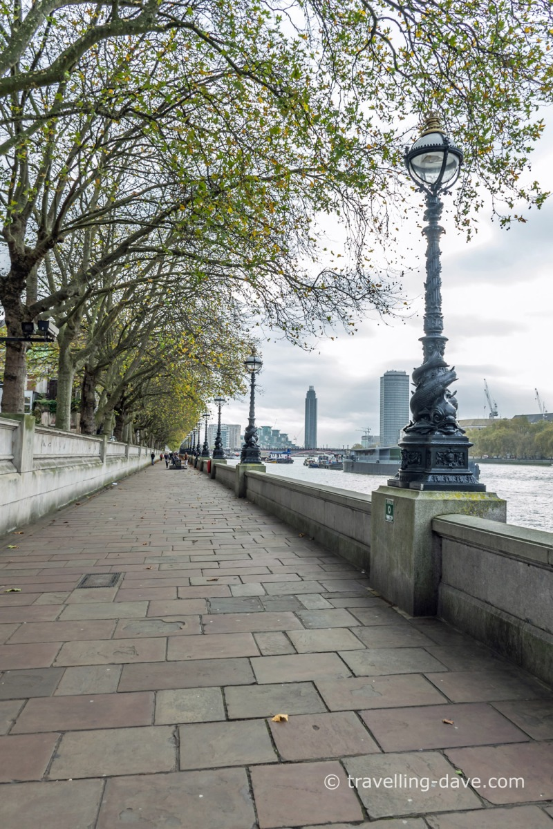 View of lampposts in Lambeth, London