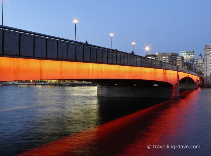 Evening view of London Bridge
