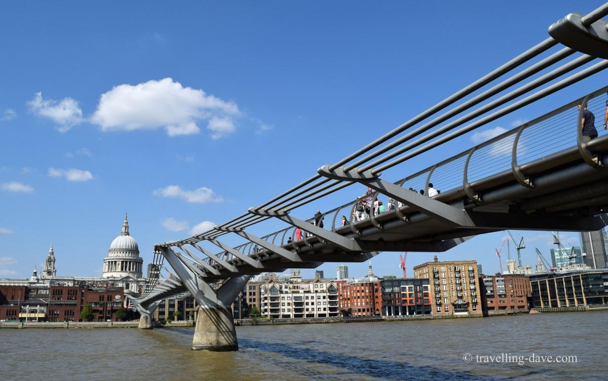 View of London's Millennium Bridge