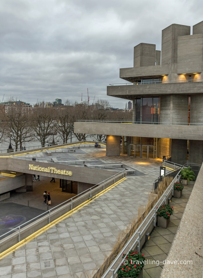 View of London's National Theatre