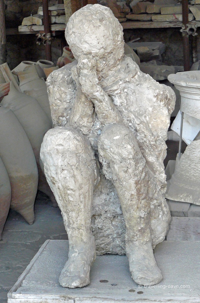 View of one of Pompeii's residents cast