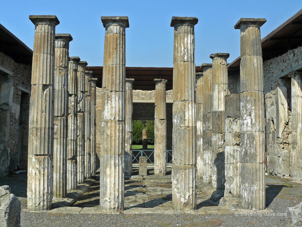 View of some of Pompeii's columns