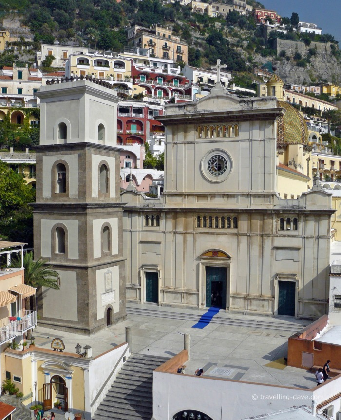 View of Positano cathedral
