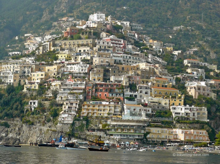 View of the village of Positano