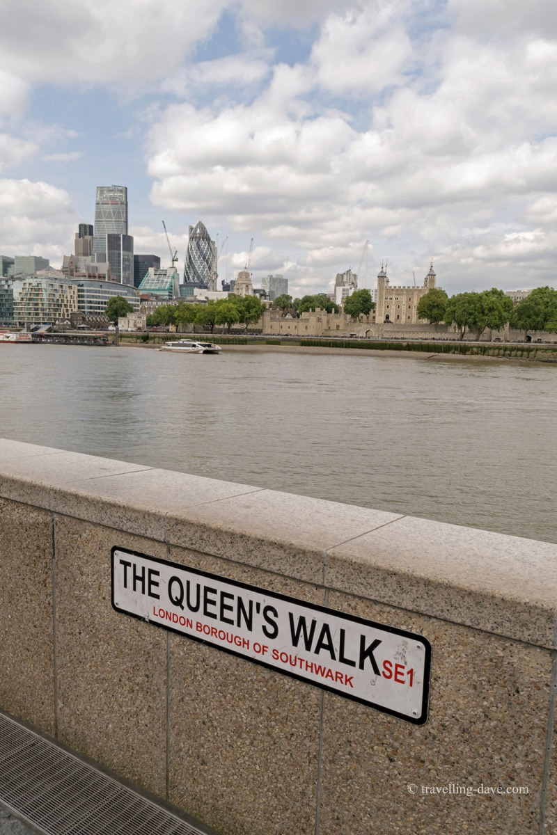 The view from London's Queen's Walk